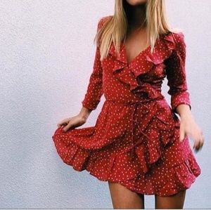 Realisation par rare Alexandra silk ruffle dress M